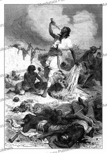 the suicide of emperor tewodros ii of abyssinia, emile bayard, 1867