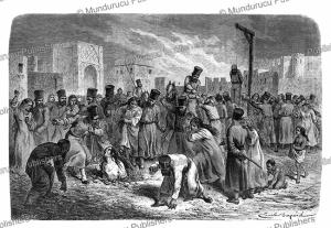 punishment for adultery in khiva, uzbekistan, emile bayard, 1865