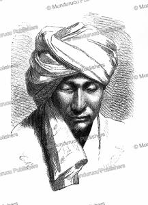 kyrgyz man with a turban, emile pierre metzmacher, 1873