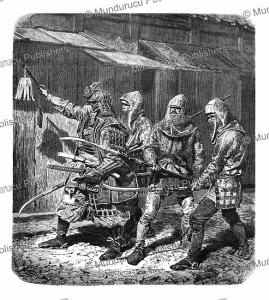 japanese warriors of the 13th century, alphonse de neuville, 1866.tif