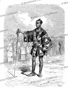a japanese city sergeant of edo, g. dore´, 1861