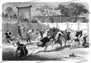 Fencing in Japan, Emile Bayard, 1867 | Photos and Images | Travel
