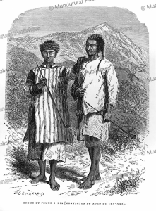 i-kia man and woman from the mountains of northern, yunnan, louis delaporte, 1873