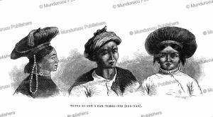 women from yunnan, louis delaporte, 1873