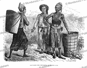 ethnic lahu villagers in muong lim, shan state, burma, m. delaporte, 1873