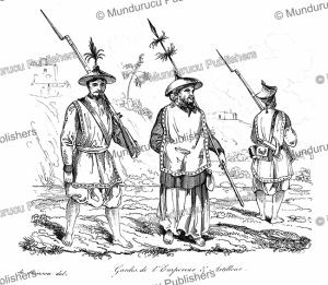 guards of the emperor of cochinchina (vietnam), louis auguste de sainson, 1839
