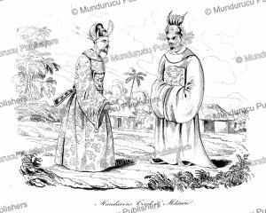 military and civilian mandarin in cochinchina (vietnam), louis auguste de sainson, 1839