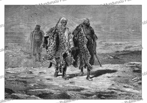 arab merchants of animal skins, a. de neuville, 1867