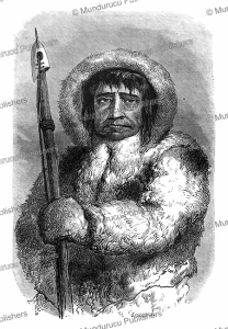 inuit chief kalutunah, alphonse de neuville, 1864
