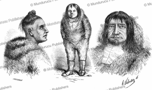 different types of eskimo men, valentin, 1861