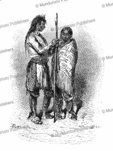 nayas indians, queen charlotte's island, alphonse de neuville, 1869