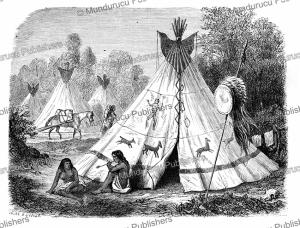 comanche encampment, jules duvaux, 1861