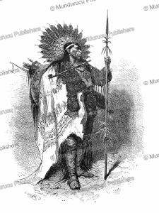 chief of the crow indians, alphonse de neuville, 1867