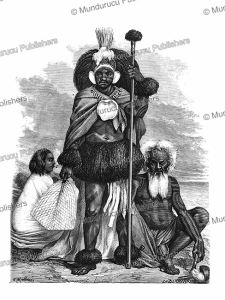 warrior and his family of the marquesas, mathieu, 1875