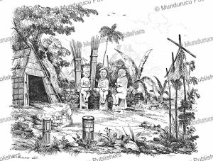 a morai (sacred place) on nuka hiva, louis auguste de sainson, 1839