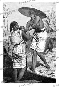 dayak woman of the ngaju tribe, boulanger, 1862