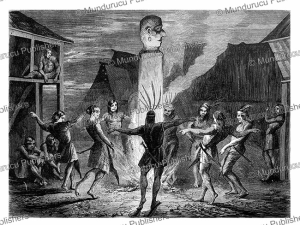 night-dance by the ot-danum dayaks, lanc¸on, 1862
