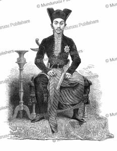 the emperor of java in ceremonial dress, bida, 1864
