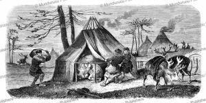tungus encampment, victor adam, 1861