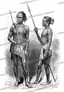 moi¨ people from cambodia, g. vuillier, 1883