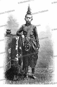 eldest son of norodom (1834-1904), king of cambodia, e. ronjat, 1883