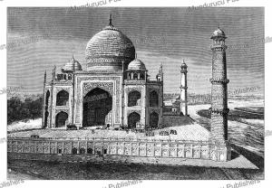 taj mahal in agra, india, the´rond, 1883