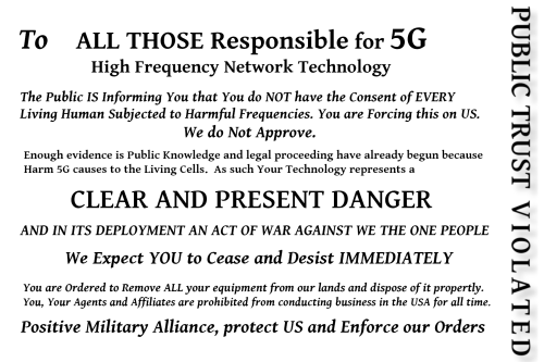 First Additional product image for - Stop 5G Postcard
