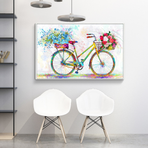 abstract wall decor print floral