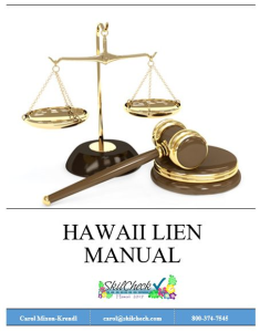 hawaii lien sale manual