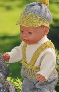 dollknittingpatterns modell 0201d jonas & jona - hose, pullover, mütze und socken-(deutsch)