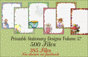 Printable Stationery Designs Printable Stationary Designs Vol 57 | Other Files | Graphics