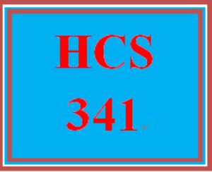HCS 341 Wk 5 Discussion Board | eBooks | Education