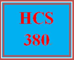 HCS 380 Wk 1 Discussion Board | eBooks | Education