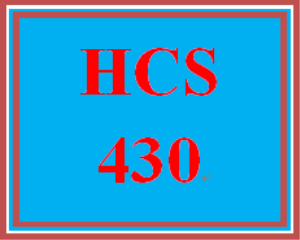 hcs 430 all discussions