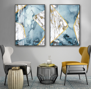set of 2 abstract prints
