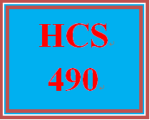 hcs 490 all discussions