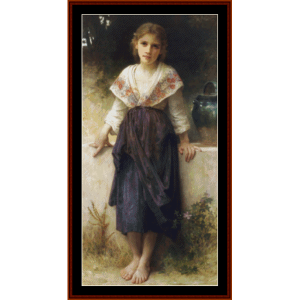 a moment's rest - bouguereau cross stitch pattern by cross stitch collectibles