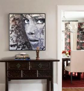 abstract wall decor print-girl