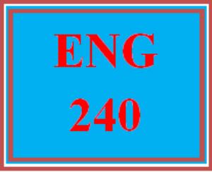 eng 240 week 1 creative writing journal