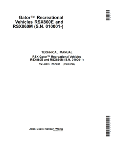 john deere rsx860e and rsx860m 860 gator service repair manual pdf only