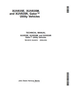 john deere xuv835e, xuv835m, and xuv835r 835 gator service repair manual pdf only