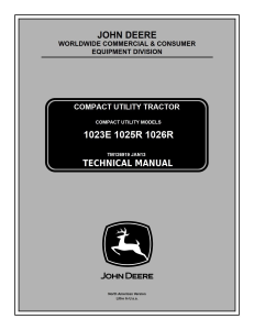 john deere 1023e 1025r 1026r compact utility tractor tech service repair manual tm126919  download now