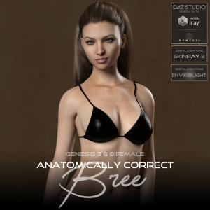 anatomically correct: bree for genesis 3 and genesis 8 female