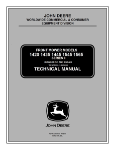john deere 1420 1435 1445 1545 1565 series ii mower service repair manual tm2147