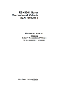 john deere gator utility xuv rsx850i 850i service repair manual tm109919