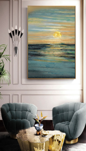 abstract wall decor print-sunset
