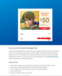 nitendo eshop $100   Software   Games