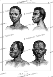 Face tattoos, men from Mozambique, Lemaitre, 1848 | Photos and Images | Travel
