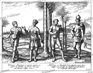 Kafir & Moors from Mozambique, A. Linschoten, 1638 | Photos and Images | Travel