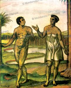 kafir with branding marks on their faces, a. linschoten, 1638